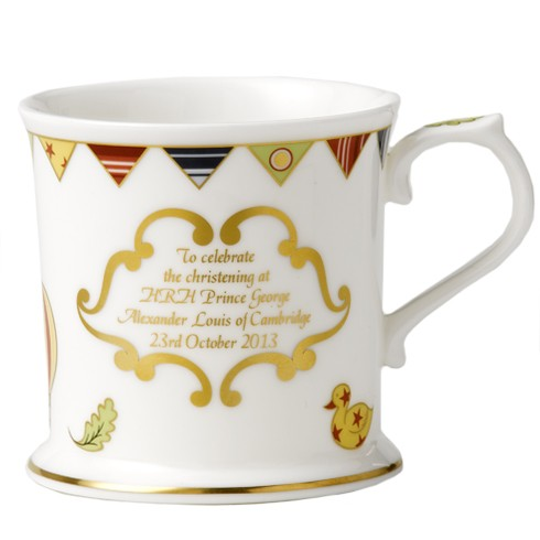 Royal Crown Derby Christening Mug