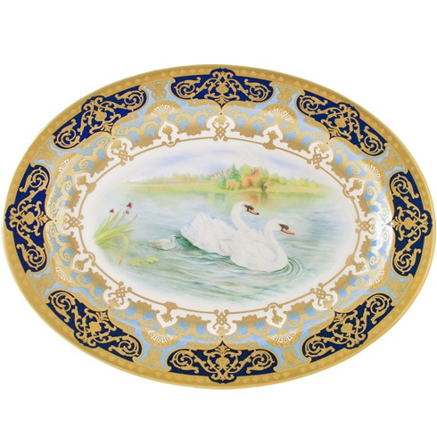 RCD Hand Painted Heritage Oval Platter - Limited Edition Of 25
