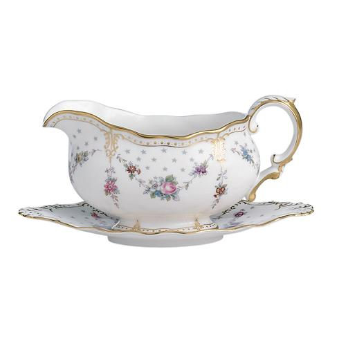 Royal Antoinette Sauce Boat & Stand