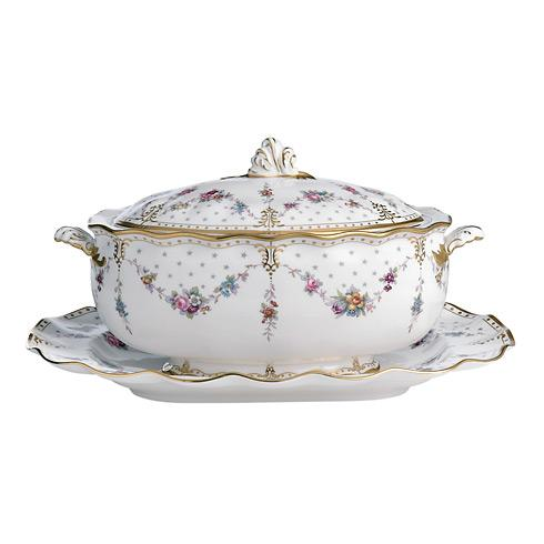 Royal Antoinette Soup Tureen & Stand