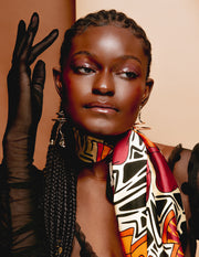 """Black Beauty"" Silk Scarf"
