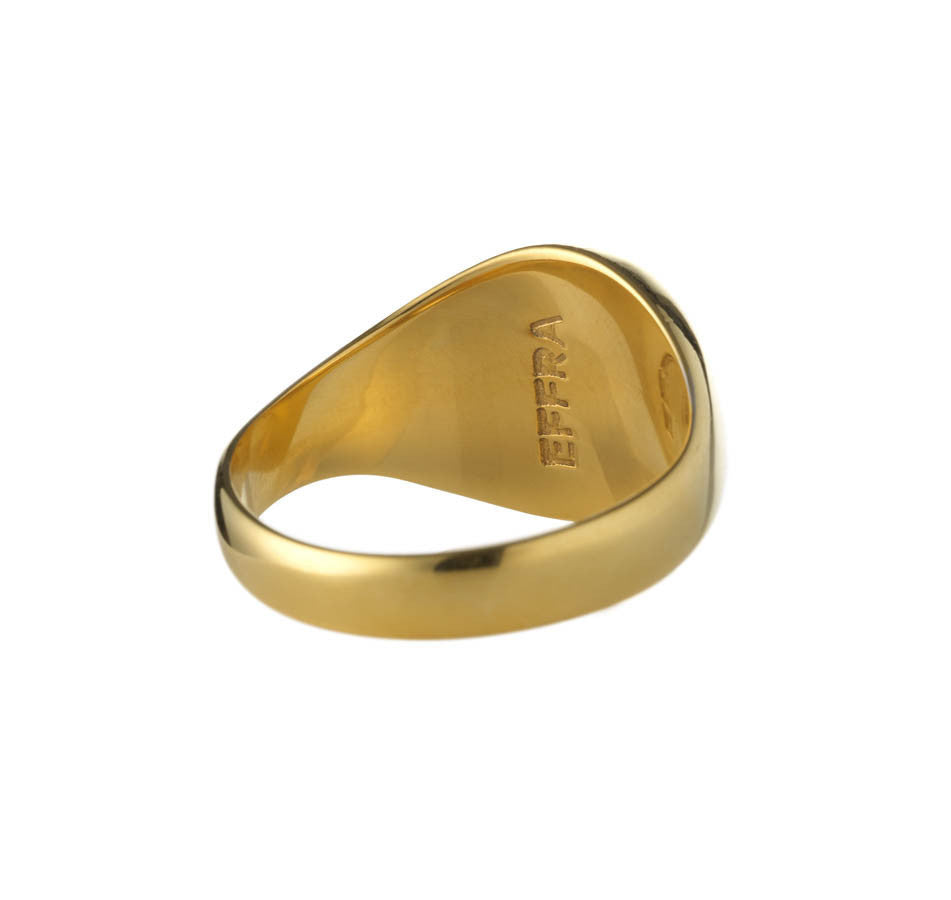 black ring gold ti alpha jewellery rings mens titanium rose men s shop