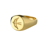 Mens Home Ring in Polished Gold
