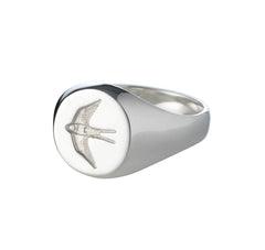 Mens Home Ring in Silver