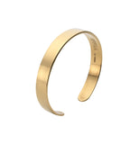 Mens Brixton Cuff in Polished Gold