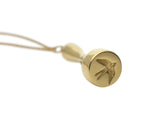 Home Signet Pendant in Polished Gold