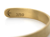Mens Acre Cuff in Matte Gold
