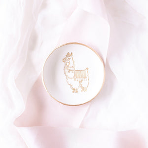 Personalized LLAMA Ring Holder