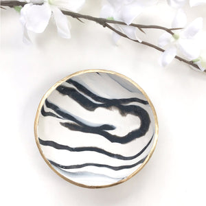 Black and White Zebra Ring Dish