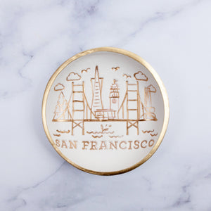 San Francisco Skyline Jewelry Dish - Golden Gate Bridge