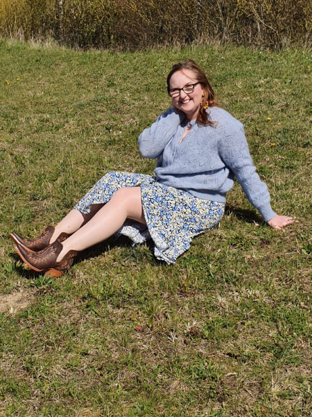 SEZANE JUMPER ARIAT BOOTS AND PRIMARK DRESS