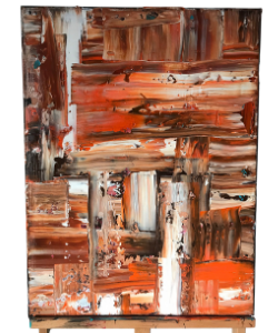 WESTERN ABSTRACT ARTWORK ACRYLIC PAINTING ON CANVAS
