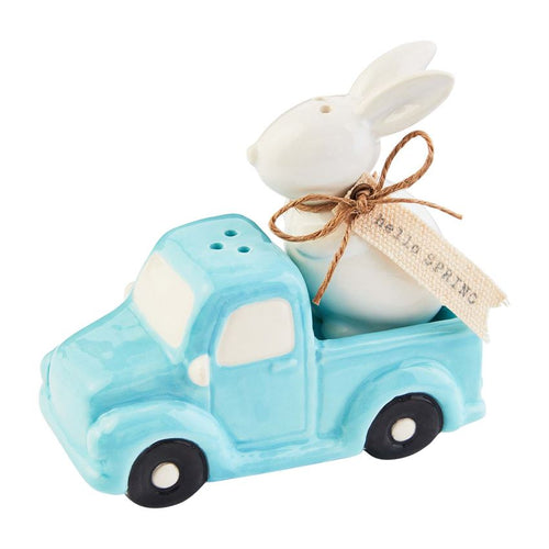 Mud Pie Bunny Truck Salt and Pepper