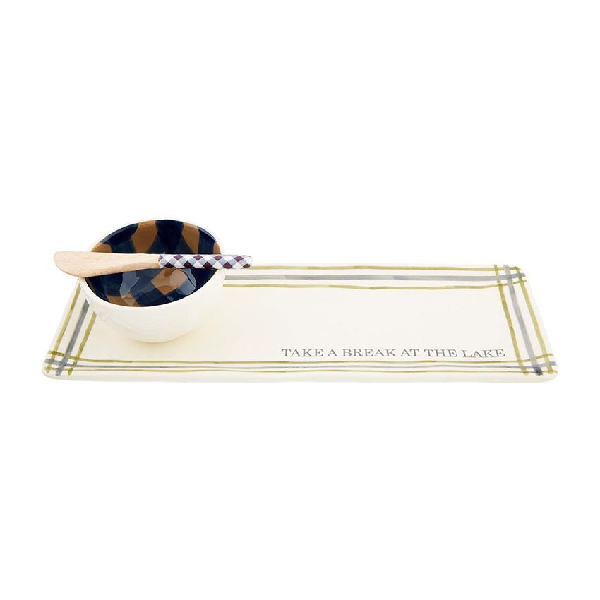 LAKE TRAY & DIP SET