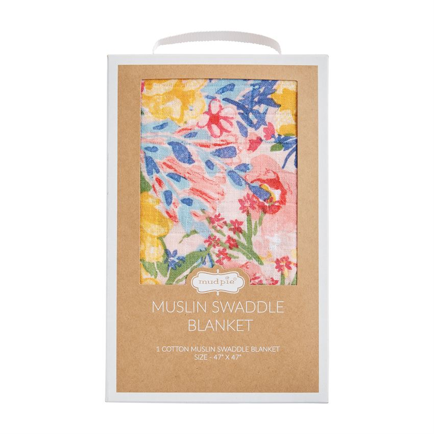 FLORAL MUSLIN SWADDLE BLANKETS