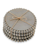 Load image into Gallery viewer, gray mudpie beaded coasters