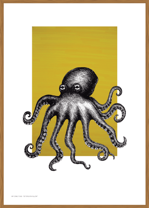 """Octopus on Yellow"" av Art Come to Me"