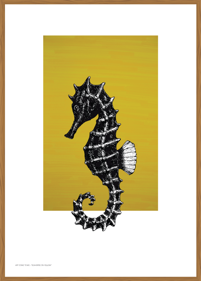 """Seahorse on Yellow"" av Art Come to Me"