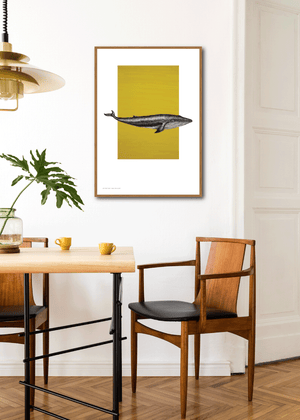 """Whale on Yellow"" av Art Come to Me"