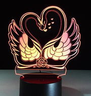 3D Lamp LED Night Light with 7 Colors, Perfect For Valentines Day