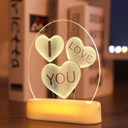 3D Acrylic Led Love String Lights For Valentine's Day Decoration