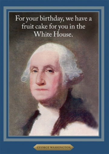 Card (Cath Tate): George Washington