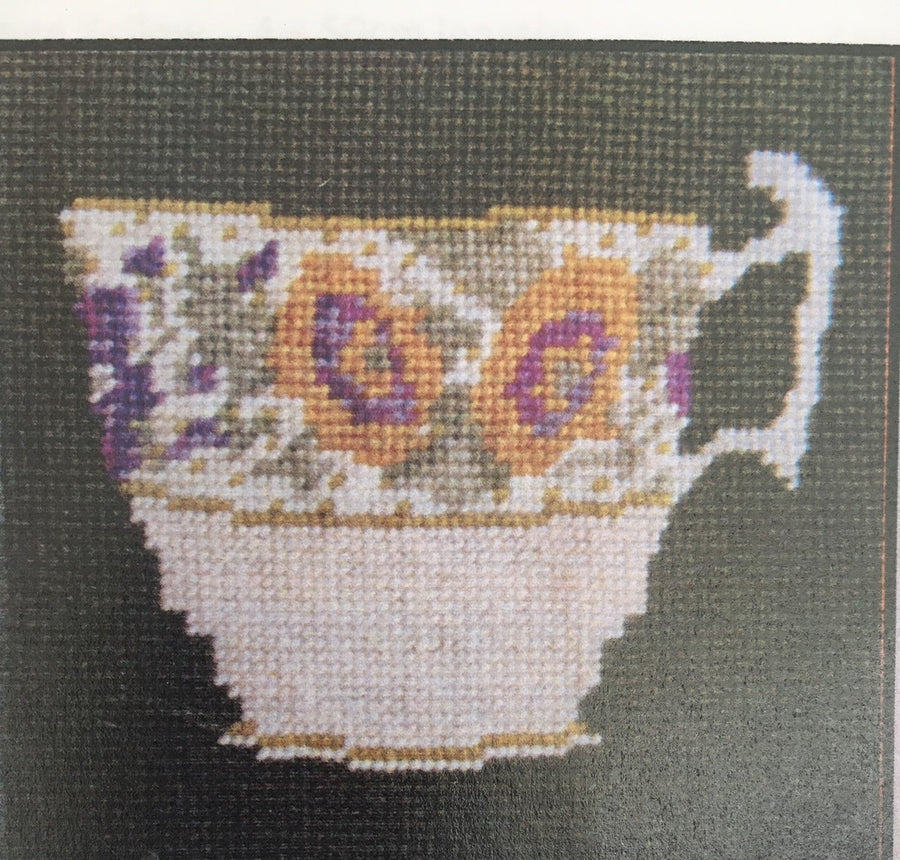 TJC Embroidery Kit: Minton cup with yellow flowers