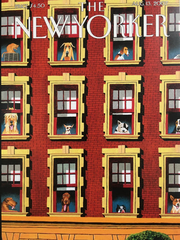 Card (The New Yorker Cover): Dogs in the Window