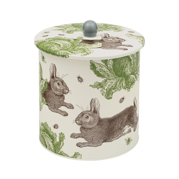 Tin (Thornback and Peel): Rabbit & Cabbage Biscuit Barrel