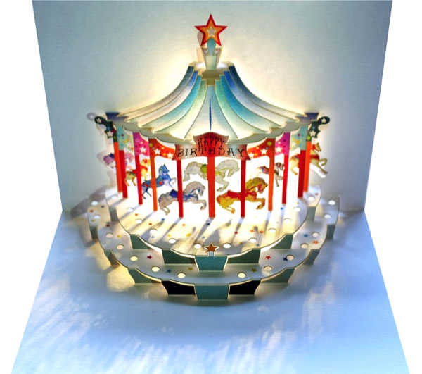 Card (Laser cut): Happy Birthday Carousel