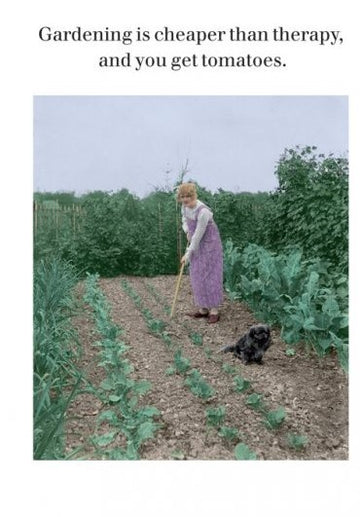 Card (Cath Tate): Gardening Cheaper Than Therapy Greeting Card