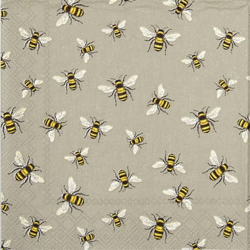 Paper Napkins (Lunch): Lovely Bees Linen