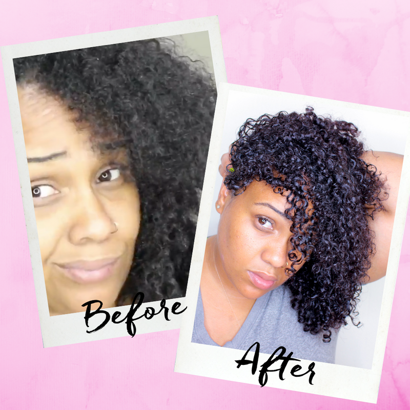 Wash and go natural hair results