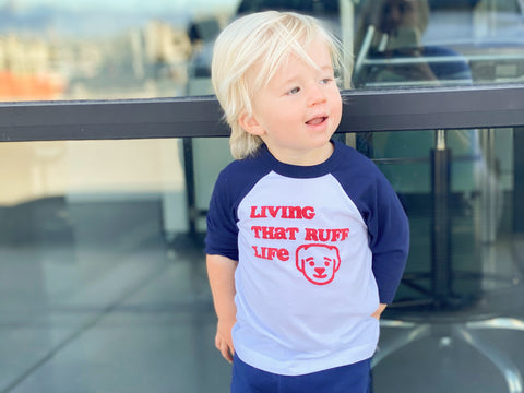 Living That Ruff Life Baseball Toddler T-Shirt