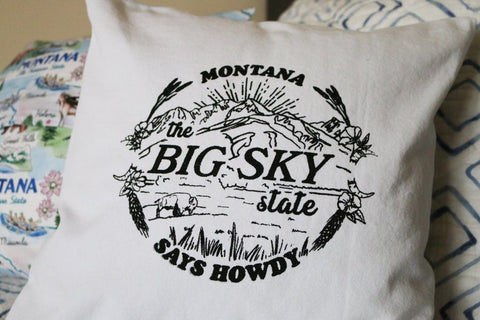 Montana Says Howdy Pillow Covering | Home Decor