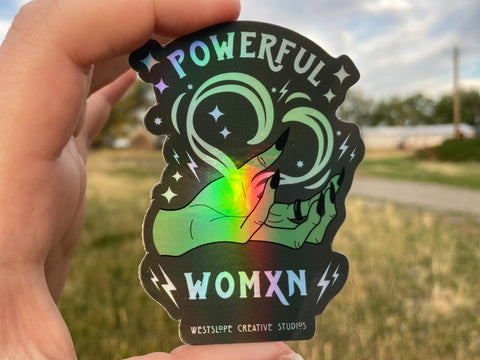 Powerful Woman Sticker