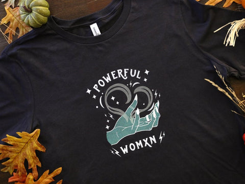 Powerful Woman Glow in the Dark Soft Gray T-Shirt