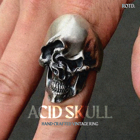 Relics Of The Deep, Handcrafted Vintage Skull Ring.