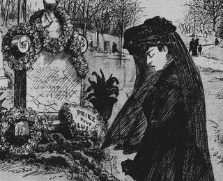 Victorian Age Woman Mourning.