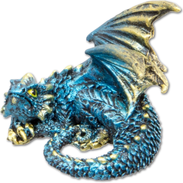 Dragon Figurine - Blue