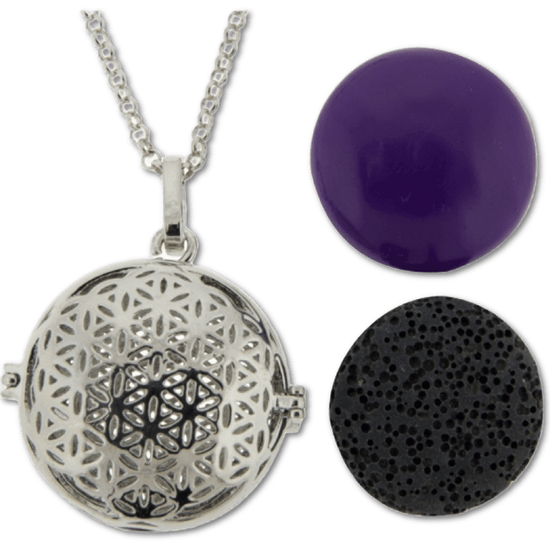 Harmony Lava Pendant - Large Flower of Life