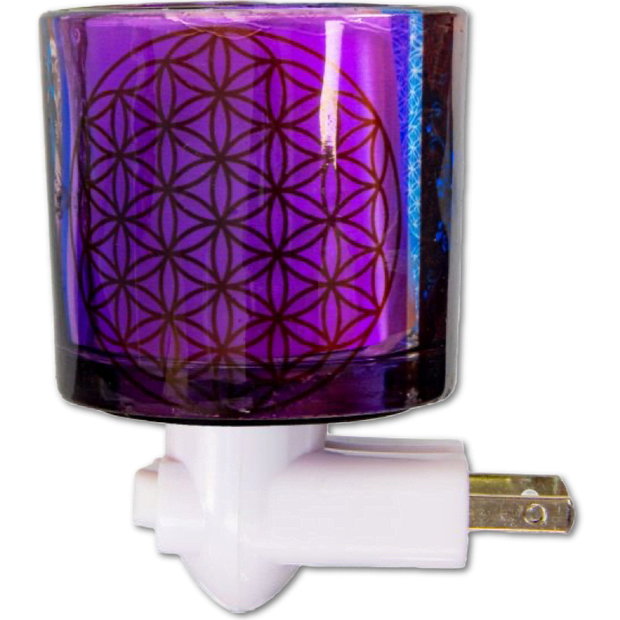 Flower of Life Glass Night Light