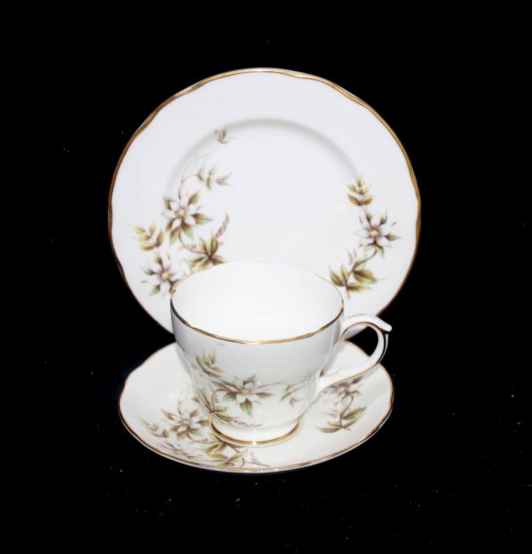 Vintage Duchess England Dusky Maid pretty teacup trio set