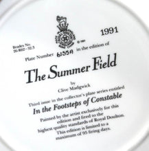 Load image into Gallery viewer, Vintage ROYAL DOULTON The Summer Field In The Footsteps of Constable plate