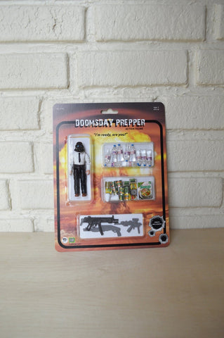 Doomsday Prepper  Action Figure Play Set - Handmade toy