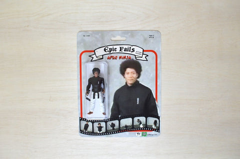 Afro Ninja handmade toy action figure