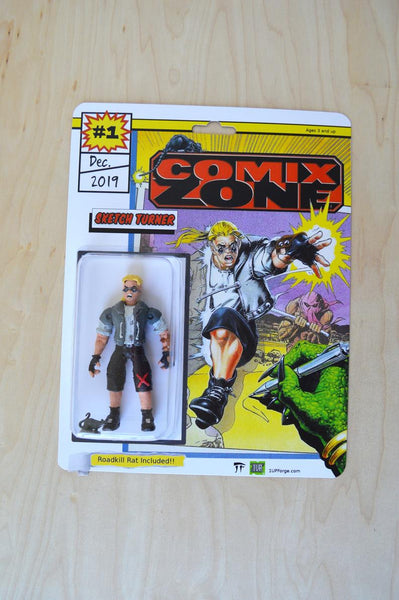 Sketch Turner - Comix Zone Action figure Handmade