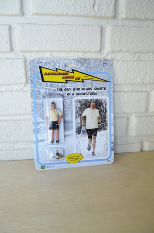 The Guy Who Wears Shorts in a Snow Storm - Superheroes Among Us - Handmade Toy