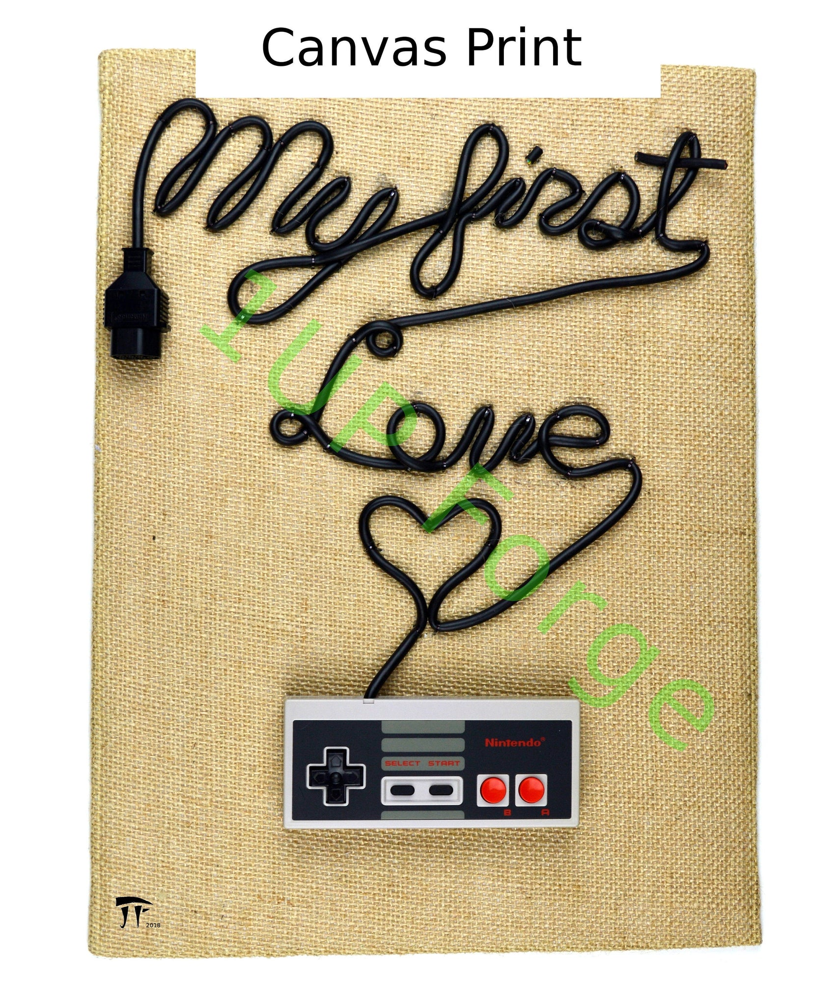 NES Nintendo Canvas Art - My First Love Canvas Print - Video Game Art