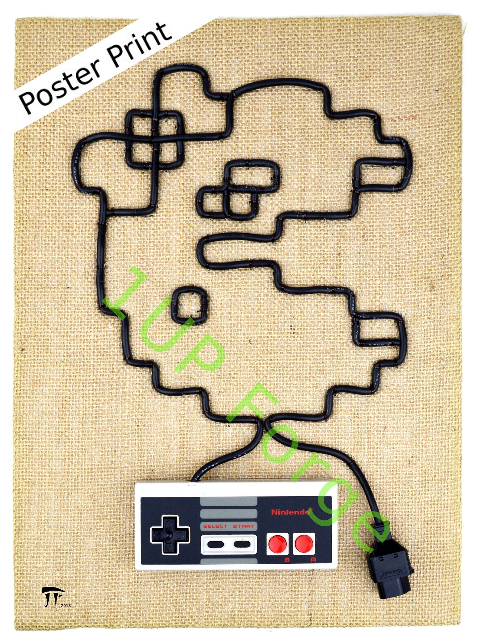 NES Nintendo Poster Print - Ms Pac Man - Video Game Art
